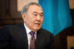 Πρόεδρος του Καζακστάν Nursultan Nazarbayev στοκ εικόνα