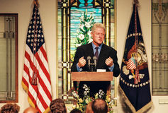 Πρόεδρος Bill Clinton στοκ φωτογραφίες