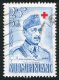 Πρόεδρος Carl Gustav Emil Mannerheim Στοκ Εικόνα