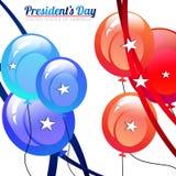 Πρόεδρος Day Balloons Στοκ φωτογραφία με δικαίωμα ελεύθερης χρήσης
