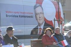 Πρόεδρος Komorowski Bronislaw Polnad στοκ εικόνες