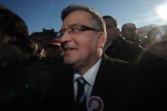 Πρόεδρος Komorowski Bronislaw Polnad στοκ φωτογραφία