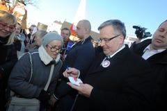 Πρόεδρος Komorowski Bronislaw Polnad στοκ φωτογραφία με δικαίωμα ελεύθερης χρήσης
