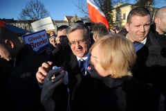 Πρόεδρος Komorowski Bronislaw Polnad στοκ εικόνα με δικαίωμα ελεύθερης χρήσης