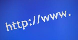 πρόθεμα Διαδικτύου στο&upsil Στοκ Φωτογραφία
