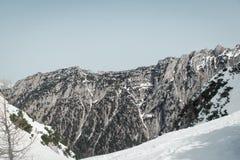 Πρόκληση Mannlgrat στο wintertime Στοκ Φωτογραφίες
