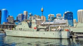 Πρόοδος περιπολικών σκαφών HMAS, ένα σκάφος μουσείων στο λιμάνι αγαπών, Σίδνεϊ, Αυστραλία στοκ εικόνα με δικαίωμα ελεύθερης χρήσης