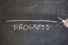 Πρόοδος που γράφεται στον πίνακα στοκ εικόνα με δικαίωμα ελεύθερης χρήσης