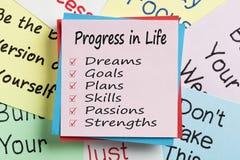 Πρόοδος στην έννοια ζωής στοκ εικόνες