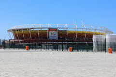 Πρόοδος της κατασκευής του ολυμπιακού πάρκου του Ρίο 2016 στοκ εικόνα