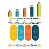 Πρόοδος Infographic πύργων Στοκ φωτογραφία με δικαίωμα ελεύθερης χρήσης