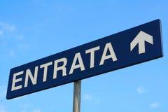 Πρόσβαση οδικών σημαδιών, ιταλικά στοκ φωτογραφίες με δικαίωμα ελεύθερης χρήσης
