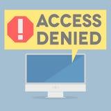 πρόσβαση που αμφισβητείται Στοκ εικόνα με δικαίωμα ελεύθερης χρήσης