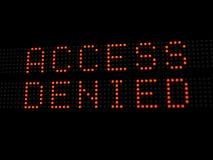 πρόσβαση που αμφισβητείτ&alp στοκ φωτογραφίες