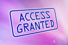 πρόσβαση που χορηγείται Στοκ Εικόνες