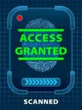 πρόσβαση που χορηγείται Στοκ εικόνες με δικαίωμα ελεύθερης χρήσης
