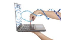 πρόσβαση του ρεύματος δυαδικού κώδικα στοκ εικόνες με δικαίωμα ελεύθερης χρήσης