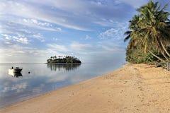 Πρόσδεση αλιευτικών σκαφών στις νήσους Rarotonga Κουκ λιμνοθαλασσών Muri Στοκ φωτογραφίες με δικαίωμα ελεύθερης χρήσης