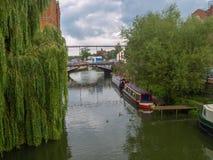 Πρόσδεση narrowboats σε Tewkesbury στοκ εικόνες