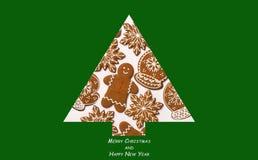 πρόσθετα Χριστούγεννα μορφής ανασκόπησης Χριστουγεννιάτικο δέντρο που γίνεται από το μελόψωμο Έννοια Χριστουγέννων Κάρτα Χαρούμεν στοκ φωτογραφία με δικαίωμα ελεύθερης χρήσης