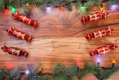 πρόσθετα Χριστούγεννα μορφής ανασκόπησης Στοκ Φωτογραφία
