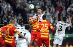 Πρόσθετη ένωση Legia Βαρσοβία Jagiellonia Bialystok της Τ-Mobile Στοκ Φωτογραφία