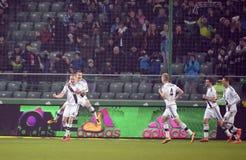 Πρόσθετη ένωση Legia Βαρσοβία Ruch Κορζώφ της Τ-Mobile Στοκ φωτογραφία με δικαίωμα ελεύθερης χρήσης