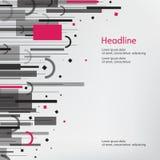 πρόσθετη επιχειρησιακή μορφή ανασκόπησης γκρίζο ροζ Στοκ Εικόνες