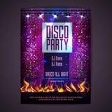 πρόσθετη μορφή disco ανασκόπησης Αφίσα Disco Στοκ Εικόνα