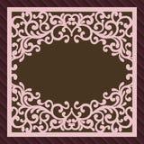 Πρόσκληση ή ευχετήρια κάρτα με τη διακόσμηση λουλουδιών Τετραγωνικό πρότυπο φακέλων λέιζερ περικοπών Φάκελος γαμήλιας πρόσκλησης  απεικόνιση αποθεμάτων