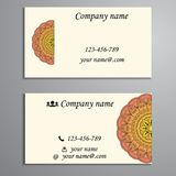 Πρόσκληση, επαγγελματική κάρτα ή έμβλημα με το πρότυπο κειμένων Στρογγυλό ΛΦ Στοκ Φωτογραφία