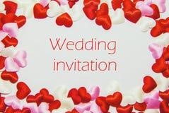 Πρόσκληση καρτών στο γάμο Στοκ Φωτογραφία