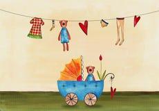 Πρόσκληση ντους μωρών Στοκ Φωτογραφίες