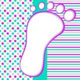Πρόσκληση ντους πλαισίων ποδιών Στοκ εικόνες με δικαίωμα ελεύθερης χρήσης