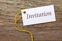 Πρόσκληση Στοκ Εικόνες