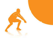 Πρόσκρουση πετοσφαίρισης απεικόνιση αποθεμάτων