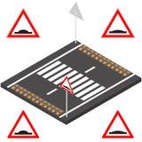Πρόσκρουση ταχύτητας στην τρισδιάστατη, διανυσματική απεικόνιση διανυσματική απεικόνιση
