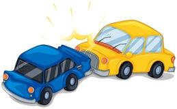 Πρόσκρουση δύο αυτοκινήτων διανυσματική απεικόνιση