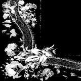 9 πρόσκληση ή ευχετήρια κάρτα προτύπων με το υπόβαθρο κορδελλών υφάσματος δαντελλών Στοκ Φωτογραφία