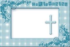 Πρόσκληση βαπτίσματος αγοράκι στοκ φωτογραφίες