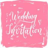 Πρόσκληση γαμήλιας σύγχρονη χέρι-γραμμένη καλλιγραφίας Στοκ φωτογραφία με δικαίωμα ελεύθερης χρήσης