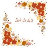 Πρόσκληση για το γάμο με τα λουλούδια Στοκ Εικόνες