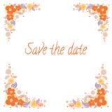 Πρόσκληση για το γάμο με τα λουλούδια Στοκ Εικόνα