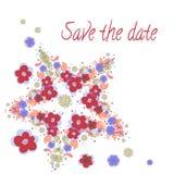Πρόσκληση για το γάμο με τα λουλούδια Στοκ φωτογραφίες με δικαίωμα ελεύθερης χρήσης