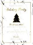 Πρόσκληση γιορτής Χριστουγέννων Ο Μαύρος, χρυσός και λευκό Στοκ φωτογραφία με δικαίωμα ελεύθερης χρήσης
