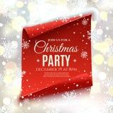 Πρόσκληση γιορτής Χριστουγέννων Διανυσματική απεικόνιση