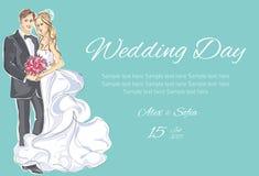Πρόσκληση ημέρας γάμου Διανυσματική απεικόνιση