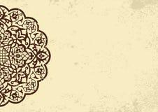 Πρόσκληση, κάρτα με το εθνικό στοιχείο arabesque ελεύθερη απεικόνιση δικαιώματος