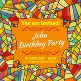 Πρόσκληση καρτών στα γενέθλια Φθινόπωρο Στοκ Φωτογραφίες