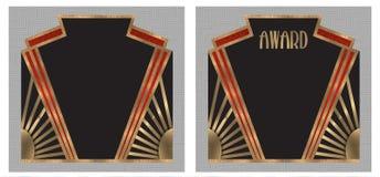 Πρόσκληση κόμματος βραβείων του Art Deco Στοκ φωτογραφία με δικαίωμα ελεύθερης χρήσης
